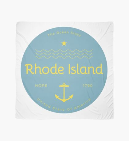 Rhode Island Badge Design Scarf