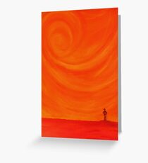 Alone in heated thought Greeting Card