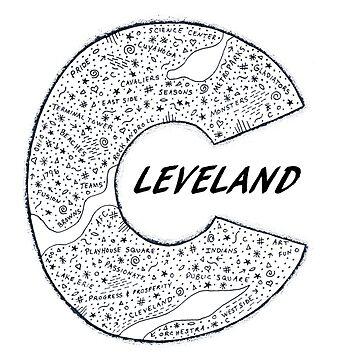 Cleveland Word Art Clear by karriezenz