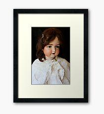 Vintage French doll Framed Print