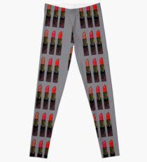 Girly Red Lipstick Trio Leggings