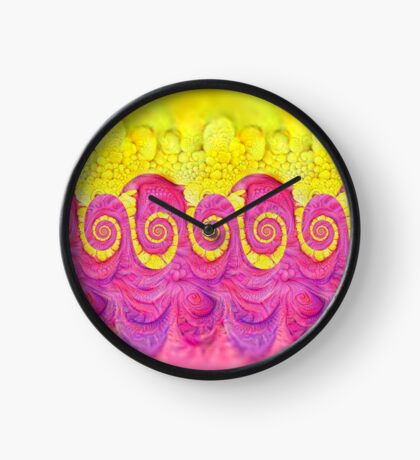 Yellow and Pink Clock
