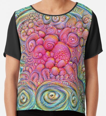 State of matter — Mesophase #DeepDream Chiffon Top