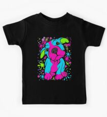 Colourful Pit Bull Puppy  Kids Tee