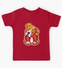 Tilted Head Pit Bull Pup Graphic Kids Tee