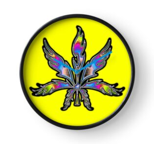 Quot Rainbow Abstract Marijuana Leaf Quot Travel Mugs By