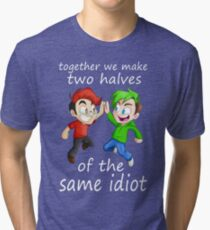 Two Halves of the Same Idiot Tri-blend T-Shirt