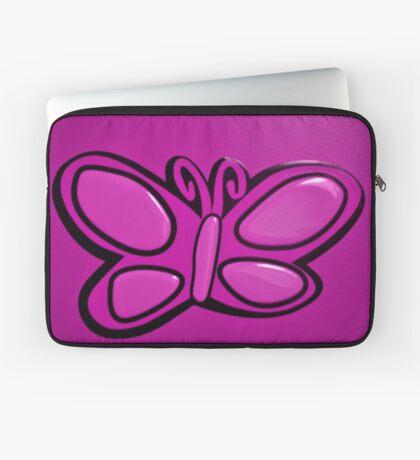 Pink Butterflie On Wall Laptop Sleeve