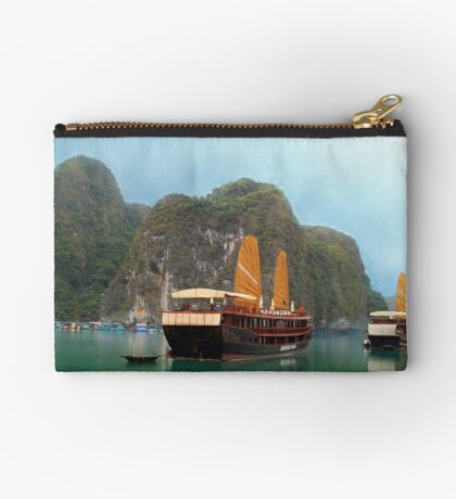 """Indochina Sails"" sailing the waters of Ha Long Bay, North Vietnam Studio Pouch"