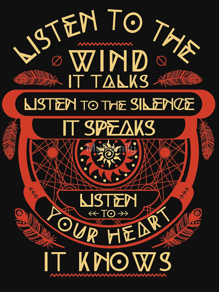 Listen to the wind it talks listen to the silence by MyFamily