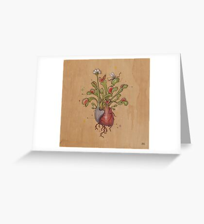 Dionaea Heart (Venus Flytrap) Greeting Card