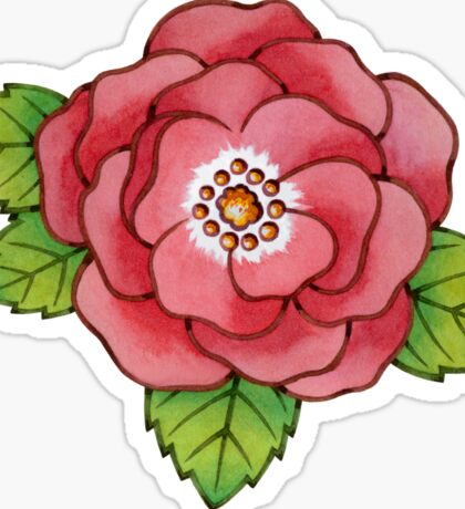 Alpen Rose Design Sticker