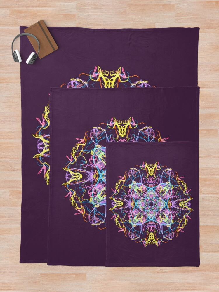 Alternate view of Floral Lights Throw Blanket