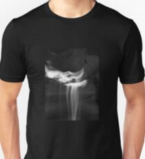 Flowing Sand in Antelope Canyon ~ Black & White T-Shirt