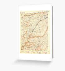 USGS TOPO Map California CA Big Trees 299217 1901 125000 geo Greeting Card