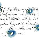 Another World CS Lewis handwritten quote by Melissa Goza