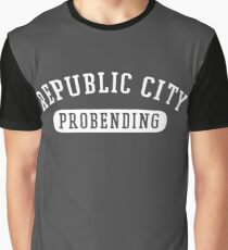 Republic City Probending (White on Black) Graphic T-Shirt
