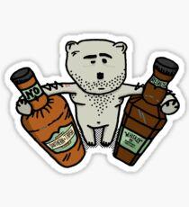 Hungover Bear Sticker
