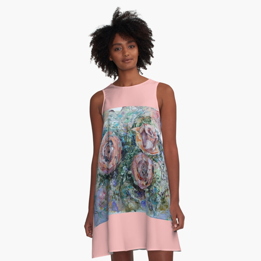 Roses A-Line Dress Front