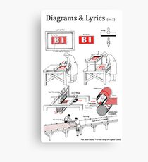 Riding with a Ghost - Diagrams & Lyrics ( no. 1) Canvas Print