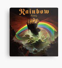 Regenbogen steigende Rockband Metalldruck