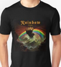 Rainbow Rising Rock Band Unisex T-Shirt