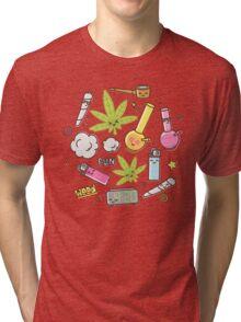 Kawaii marijuana / Cute weed Tri-blend T-Shirt