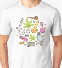 Kawaii marijuana / Cute weed Unisex T-Shirt