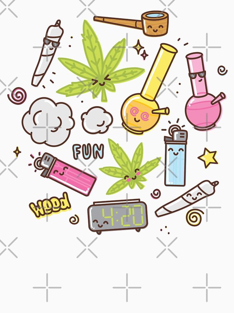 Kawaii marijuana / Cute weed by dmitriylo