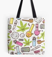 Kawaii marijuana / Cute weed Tote Bag