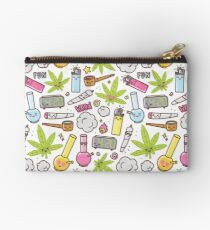 Kawaii marijuana / Cute weed Studio Pouch