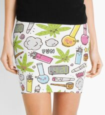 Kawaii marijuana / Cute weed Mini Skirt
