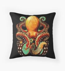 the octopus Throw Pillow