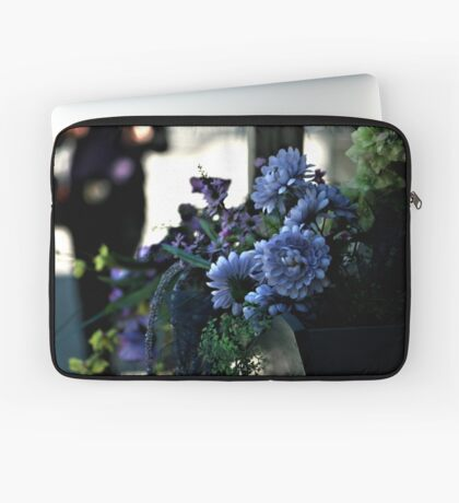 Blue Flower Laptop Sleeve