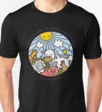 Animals are friends, not food. Go vegan!  T-Shirt