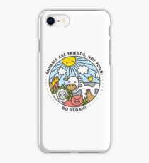 Animals are friends, not food. Go vegan!  iPhone Case/Skin