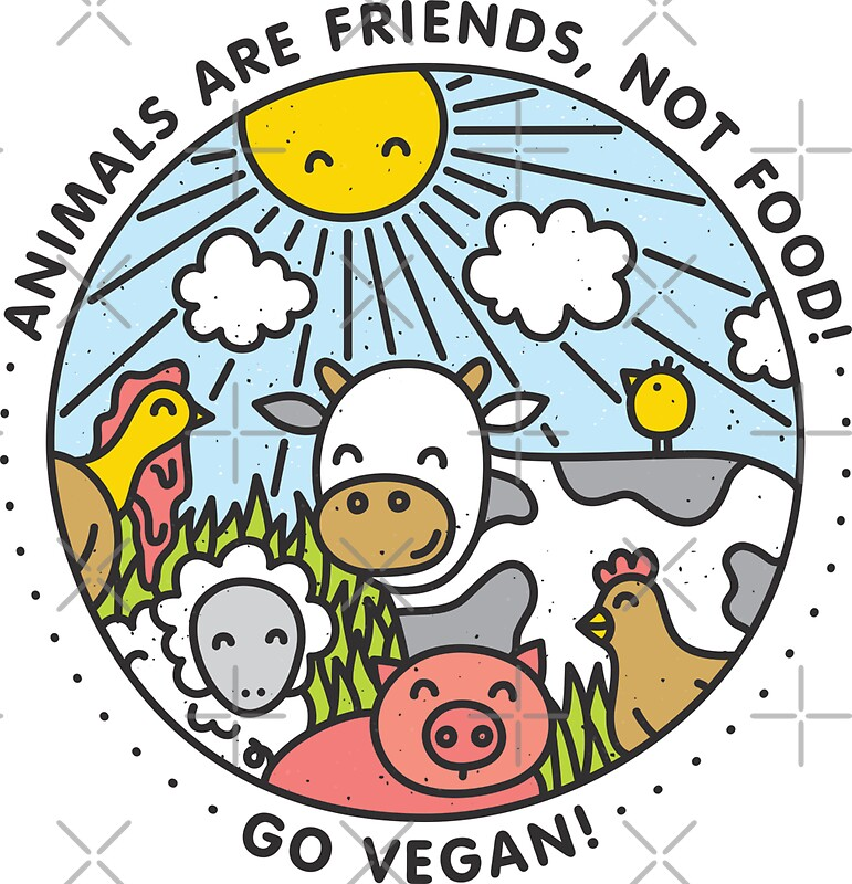 Animals are friends not food go vegan by dmitriylo