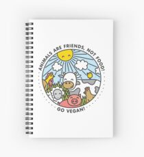 Animals are friends, not food. Go vegan!  Spiral Notebook