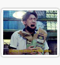 Wonho | Emotionally Eating Tortilla Chips Sticker