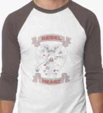 Rebel Heart - red Men's Baseball ¾ T-Shirt