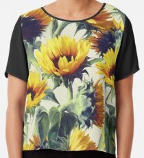 Sunflowers Forever Chiffon Top