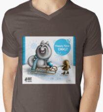 Happy New Dog Mens V-Neck T-Shirt