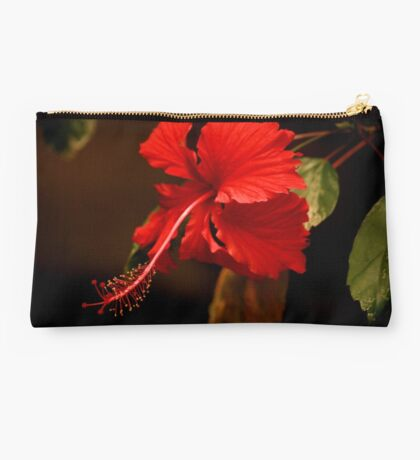 Big  Red Hibiscus Studio Pouch