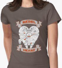 Rebel Heart - orange Women's Fitted T-Shirt