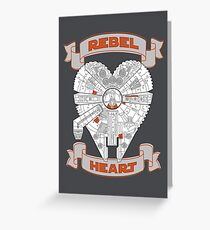 Rebel Heart - orange Greeting Card