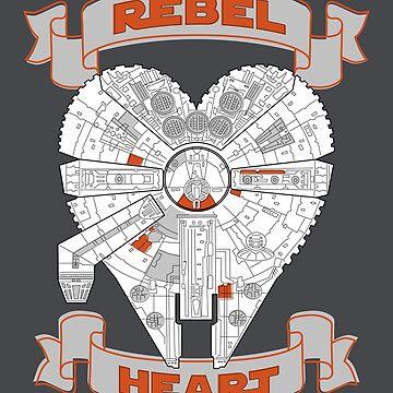 Rebel Heart - orange by cepheart
