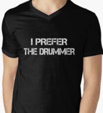 I Prefer The Drummer white Mens V-Neck T-Shirt