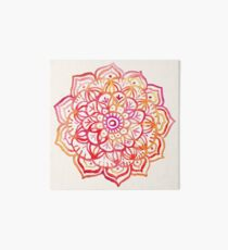 Watercolor Medallion in Sunset Colors Art Board