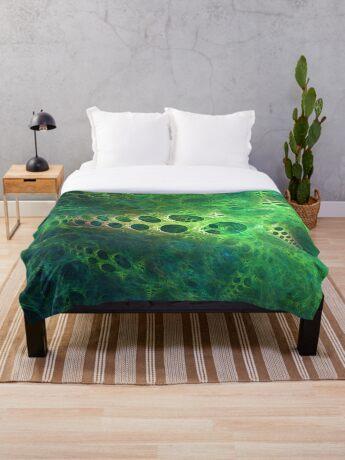 BubbleX #fractal art Throw Blanket