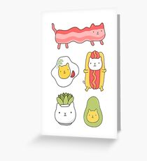 Catfood Greeting Card